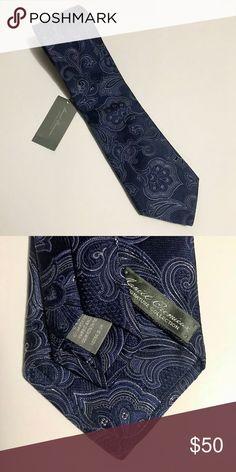 Daniel Cremiuex Signature Collection Tie NWT Daniel Cremiuex Signature Collection Navy and grey Paisley Tie Daniel Cremieux Accessories Ties