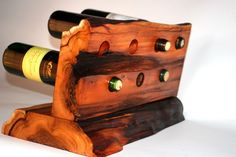 Counter Top Wine Rack A Favorable Item — Reddish Home Ideas Wine Glass Holder, Wine Bottle Holders, Wine Bottle Crafts, Wine Stand, Rustic Wine Racks, Wine Shelves, Small Wood Projects, Woodworking Projects That Sell, Wine And Beer