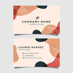 Abstract business card template with pas. Thank You Card Design, Name Card Design, Logo Online Shop, Business Thank You Cards, Magazin Design, Web Design, Thanks Card, Minimalist Business Cards, Instagram Design