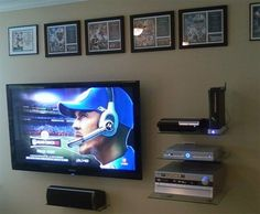 Floating Shelf Over HDTV Maximizes Available Space