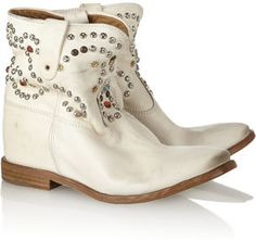 Isabel Marant The Caleen studded leather concealed wedge boot on shopstyle.com