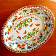 Vintage Daher Tin Butterfly Oval Bowl England by CinfulOldies, $12.00
