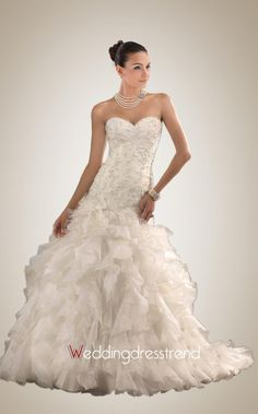 Best Strapless Applique A-line Wedding Dress - Shop Online for Wedding Dresses at Low Prices