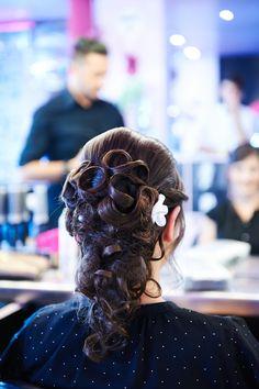 My wedding hair bun