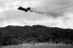 Marine Sea Knight helicopter comes down in flames after being hit by enemy ground fire during Operation Hastings just south of the demilitarized zone between North and South Vietnam on July 15 x Vietnam History, Vietnam War Photos, Marine Corps, Ulsan, North Vietnam, Vietnam Vets, Vietnam Protests, Vietnam Veterans Memorial, War Photography