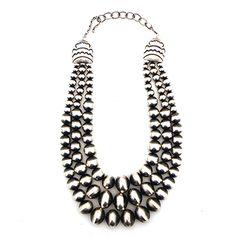Three Strand Navajo Pearl Necklace at Maverick Western Wear