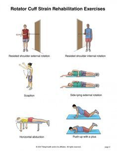 Rotator cuff strain Rehabilitation exercises - I do all these in physical therapy after surgery