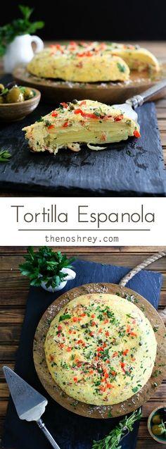 Tortilla Espanola   TheNoshery.com - @thenoshery                                                                                                                                                      Más
