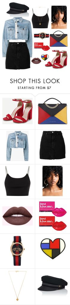 """""""Color!"""" by yumy28 ❤ liked on Polyvore featuring Tommy Hilfiger, Off-White, IRO, Alexander Wang, Avon, Gucci, Vanessa Mooney and Lola"""