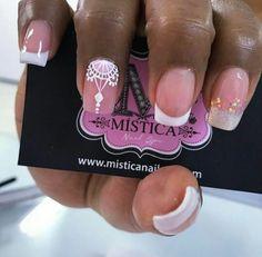 French Nail Designs, Beautiful Nail Designs, Nail Art Designs, J Nails, Hair And Nails, Wedding Nails Design, Perfect Nails, Black Nails, French Nails