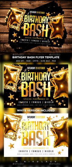 Boss Birthday Party Night Boss birthday, Flyer template and Psd - birthday flyer template