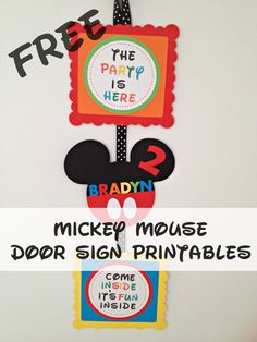 How to make Mickey Mouse Party Door Sign In this post I will show you How to Make a Mickey Mouse inspired door sign with free images/template.  By adding that extra special touch to the party with a door sign, will make your child's birthday an even more memorable moment with some great photos opportunities too. The Materials you will …