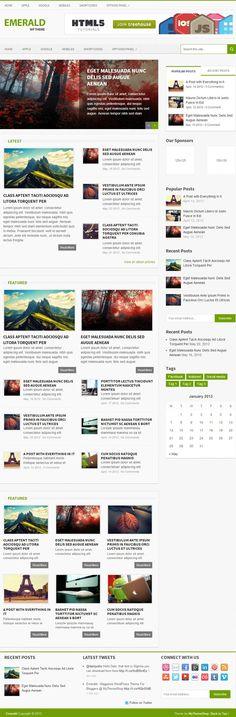 MyThemeShop – Emerald #WordPress Theme