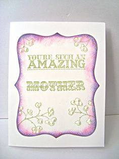 Amazing Mother Hand Stamped Card Happy Mother's Day by Wcards, $3.00