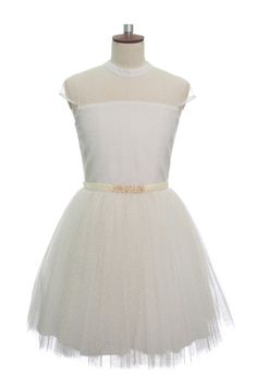 IVORY PARTY PROM DRESS