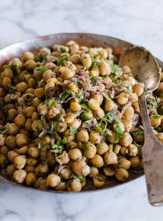 Recipe:  Chickpea Salad with Red Onion, Sumac, and Lemon  — Recipes from The Kitchn red onion, lemon recipes, chickpea salad