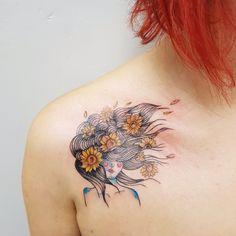 Sunflower girl tattoo TPM - Tatuagem Para Mulheres