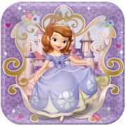 """Sofia the First Square Paper Plates, 9"""" 