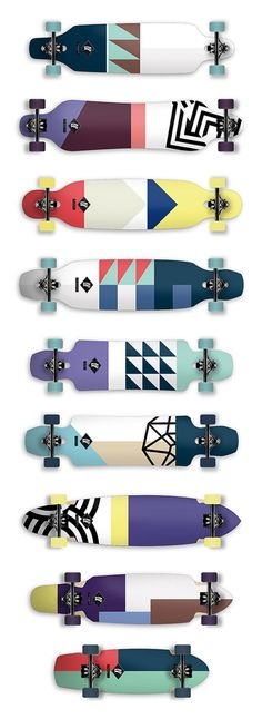 Axel Peemöller's Identity for Apex Longboards| I love ALL of these prints.