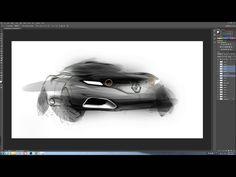 자동차 스케치 & Photoshop Retouch 과정을 보는것이 재밌다