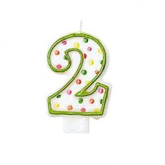 Celebrate your special occasion with a Green Outline Number 2 Birthday Candle! This molded Green Outline Number 2 Birthday Candle is shaped like the number 2 Birthday, Polka Dot Birthday, Giant Candles, Gold Candles, Birthday Sparklers, Birthday Candles, Fountain Candles, Tropical Candles, Polka Dot Flats