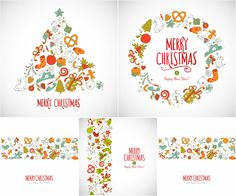Simple New Year backgrounds vector
