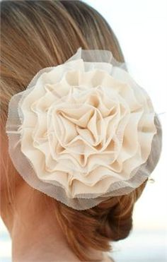 Make your own ruffled hair pin, a lot cheaper!