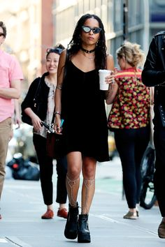 Zoe Kravitz out in NYC ·