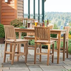 Teak Outdoor Party and Serving Table from the Veranda Collection