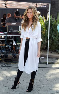 Chrissy Teigen's H&M shirt-dress. See 6 other celebrities whose spring style killed it.