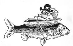 "Juxtapoz Magazine - Juxtapoz x Adobe: Jeremy Fish's Yesterdays and Tomorrows ""Drawings"