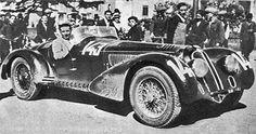 1938 Mille Miglia Alfa 8C 2900 MM Touring drivers Biondetti - Stefani Winners