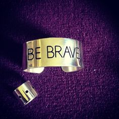 "A good motto for the year. My favourite cuff and ring by ""love from Holly""."