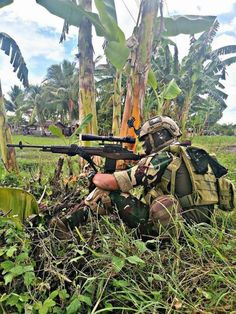 """A Marksman of the Philippine Navy Special Operations Group """"NAVSOG"""" on overwatch. Military Tactics, Military Police, Military Art, Philippine Army, Indian Army Special Forces, Indian Army Wallpapers, Military Action Figures, Military Pictures, Action Poses"""