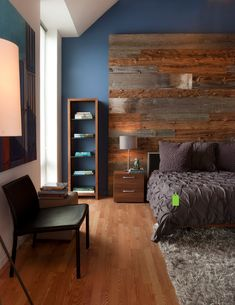 These 12 Reclaimed Wood Bedroom Decor Ideas will inspire you to add the natural warmth of wood in nearly every room of your home! Gray Bedroom, Master Bedroom Design, Home Decor Bedroom, Modern Bedroom, Bedroom Furniture, Minimalist Bedroom, Budget Bedroom, Master Bedrooms, Bedroom Colors