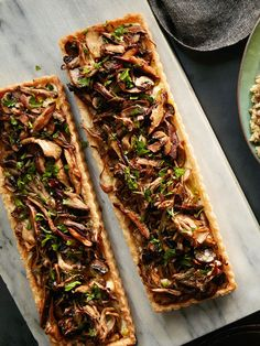 Vegetarian #Thanksgiving Menu, SIDE DISH | Mushroom & Leek Tarts #RRMenuPlanner