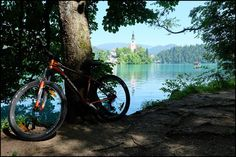 Radtour um den See in Bled Slowenien