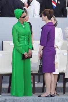 Sheikha Mozah wearing Jean Paul Gaultier
