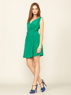 Silk Lillian Wrap Dress by The Cue on Gilt. Contemplating...