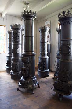 Wood stove shop in Sweden.