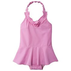 Circo® Infant Toddler Girls 1-Piece Swim Suit - Bright Pink $6