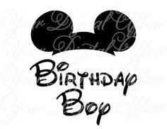 INSTANT DOWNLOAD Mickey Cap Birthday Boy Mickey Mouse Disney Printable DIY Iron On Transfer - Digital File