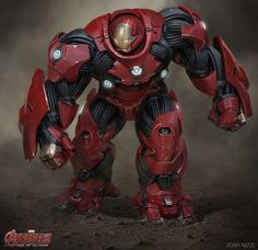Marvel Studios concept artist Josh Nizzi has revealed his incredible designs for Avengers: Age of Ultron featuring some vert cool and unusual alternate designs for Iron Man's Hulkbuster armour and Ultron. Marvel Comic Universe, Marvel Comics, Marvel Art, Marvel Heroes, Iron Man Avengers, Avengers Age, Iron Man Kunst, Iron Man Art, Hulk Buster