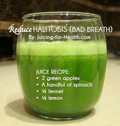 For halitosis