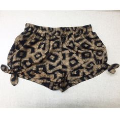Flowy shorts Black & brown | comfy & breezy shorts | size small | double sided bows | REASONABLE OFFERS ONLY Shorts