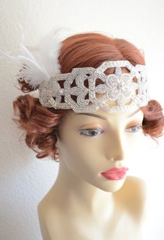 Art deco headpiece made to order.