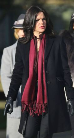 Lana Parrilla on set (January 20, 2015)