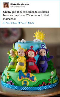 Teletubbies - Cake by SweetWithIvane Teletubbies Birthday Cake, Teletubbies Cake, Cupcakes, Cupcake Cakes, Novelty Cakes, Cake Decorating Tutorials, Occasion Cakes, Cake Tutorial, Celebration Cakes