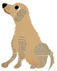 Pets made out of vintage book pages! //pastesf.com/