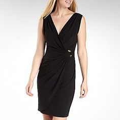 0b8495ff30a Jones Wear® Mock-Wrap O-Ring Dress - jcpenney Perfect Little Black Dress